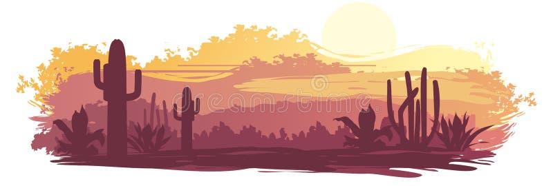 Mexicaans landschap stock illustratie