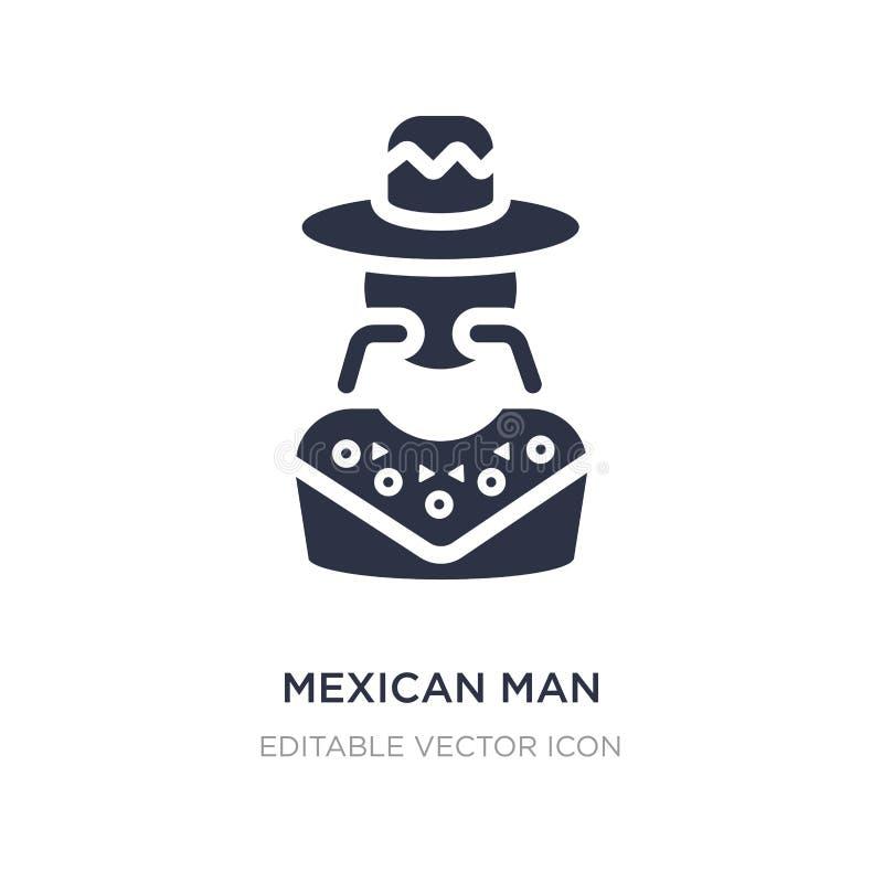 Mexicaans mensenpictogram op witte achtergrond Eenvoudige elementenillustratie van Sociale media die concept op de markt brengen vector illustratie