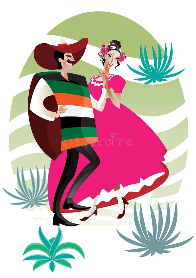 Mexicaans paar royalty-vrije illustratie