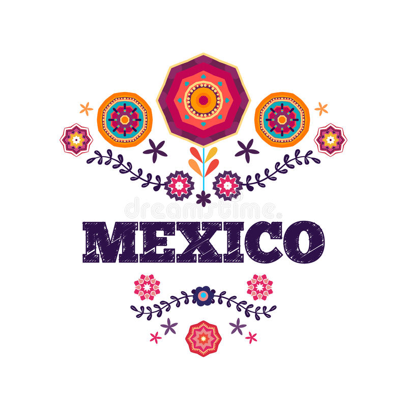 Mexicaans patroon, mooie etnische ornamert stock illustratie