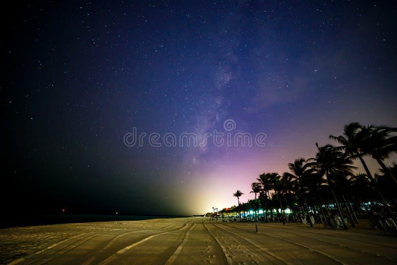Mexicaans Strand bij Nacht stock afbeelding