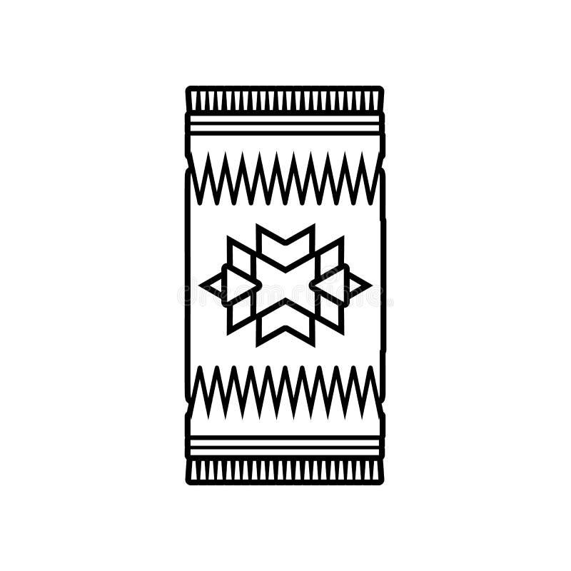 Mexicaans tapijtpictogram Element van Mexico voor mobiel concept en webtoepassingenpictogram Overzicht, dun lijnpictogram voor we stock illustratie