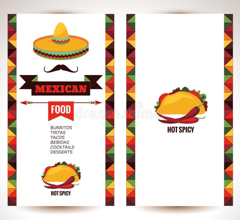 Mexicaans voedsel stock illustratie