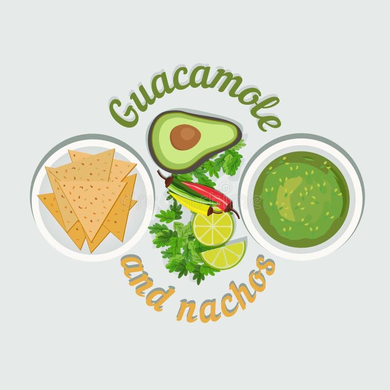 Mexicaans voedselconcept royalty-vrije illustratie