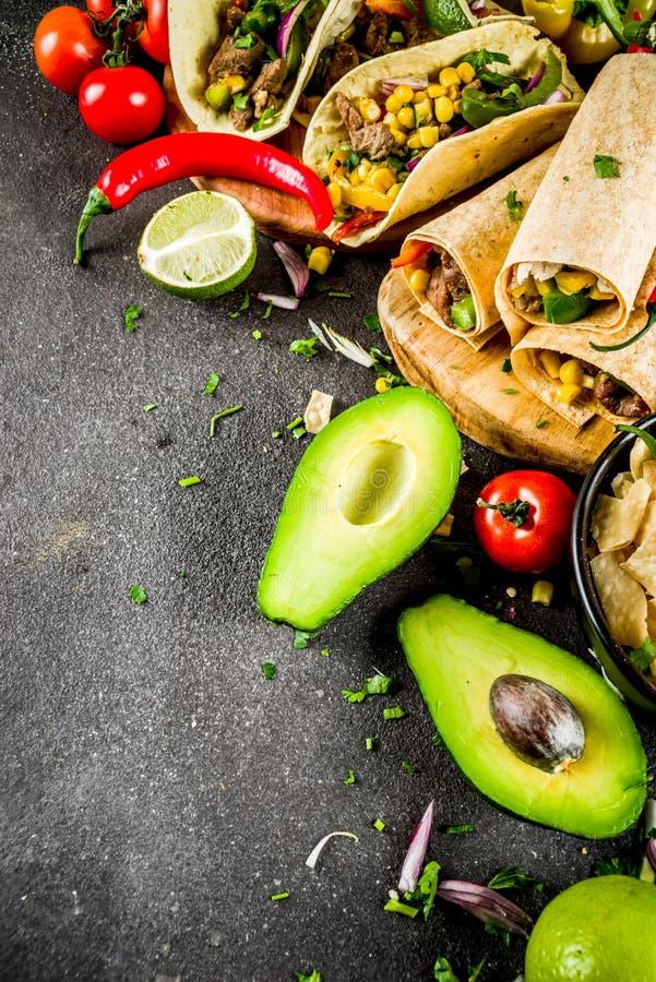 Mexicaans voedselconcept Cinco de Mayo-voedsel royalty-vrije stock foto