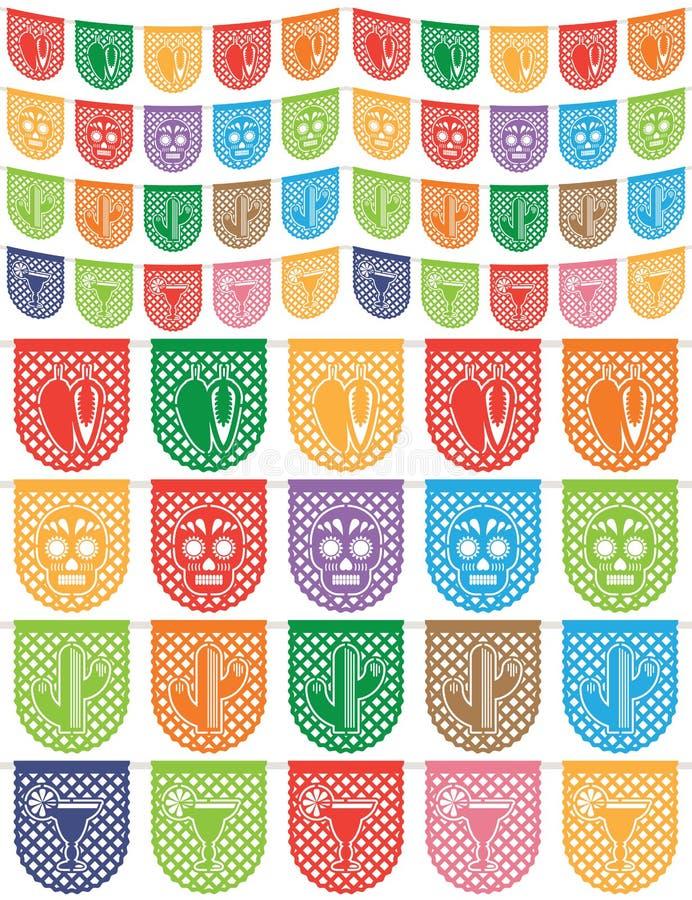 Mexicaanse bunting vector illustratie