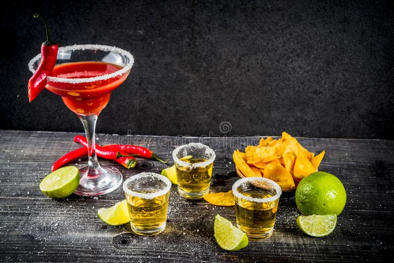 Mexicaanse cocktail voor Cinco de Mayo royalty-vrije stock foto's