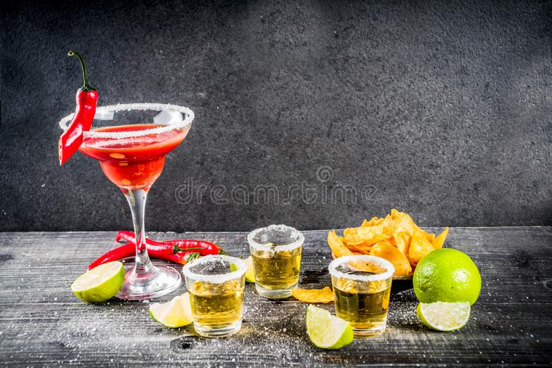 Mexicaanse cocktail voor Cinco de Mayo stock foto