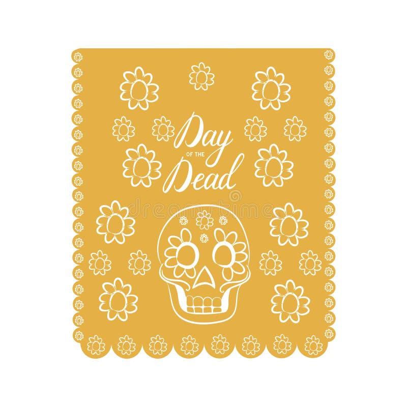 Mexicaanse Dag van de Dood royalty-vrije illustratie