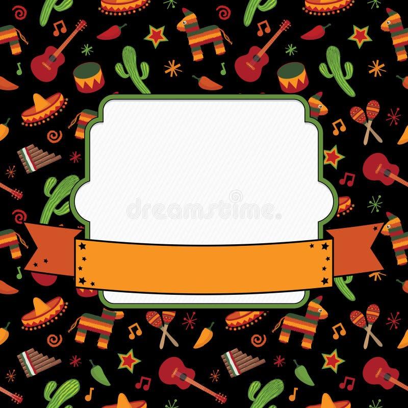 Mexicaanse decoratie stock illustratie