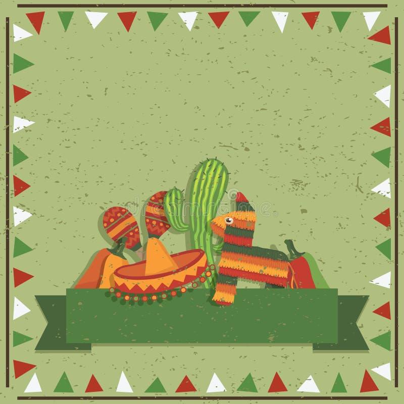 Mexicaanse decoratie royalty-vrije illustratie