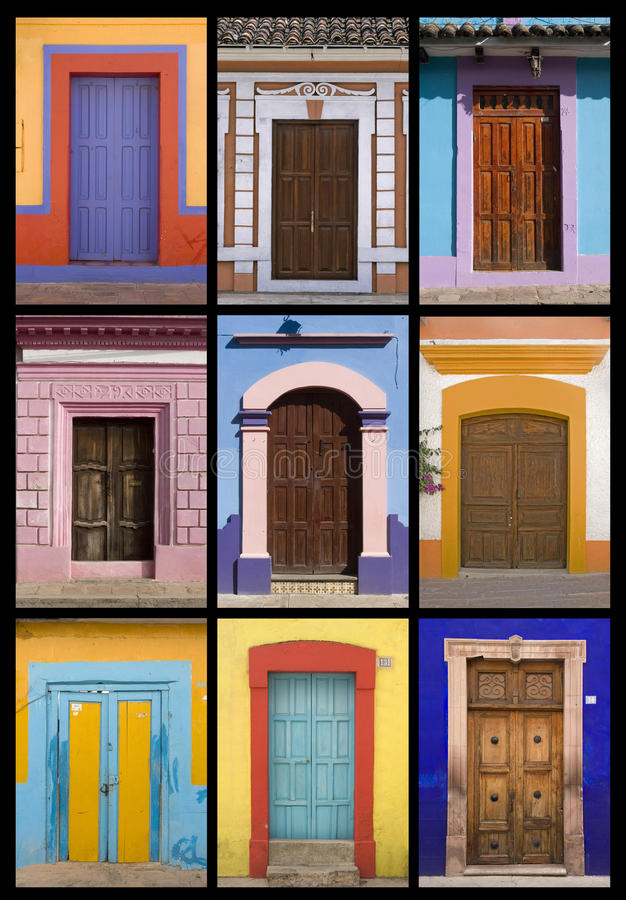 Mexicaanse deuren stock fotografie