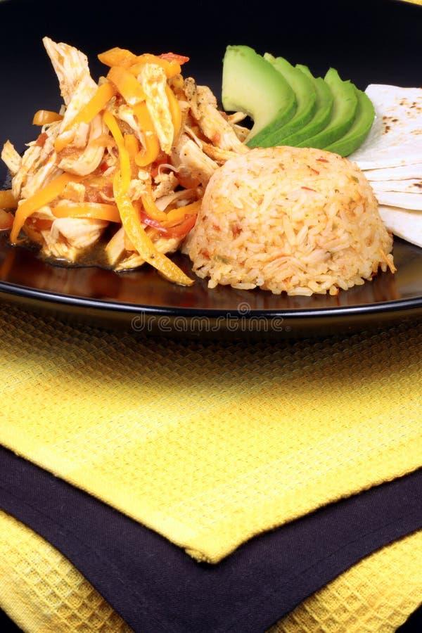 Mexicaanse fajitas gastronomische stijl royalty-vrije stock afbeeldingen