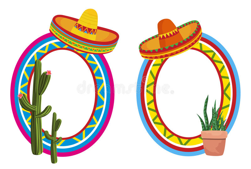 Mexicaanse Frames stock illustratie