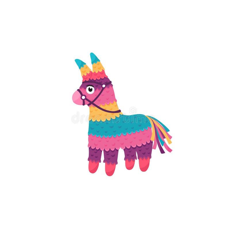Mexicaanse ge?soleerde pinata stock illustratie
