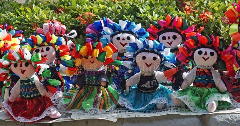 Mexicaanse gevulde poppen stock afbeeldingen