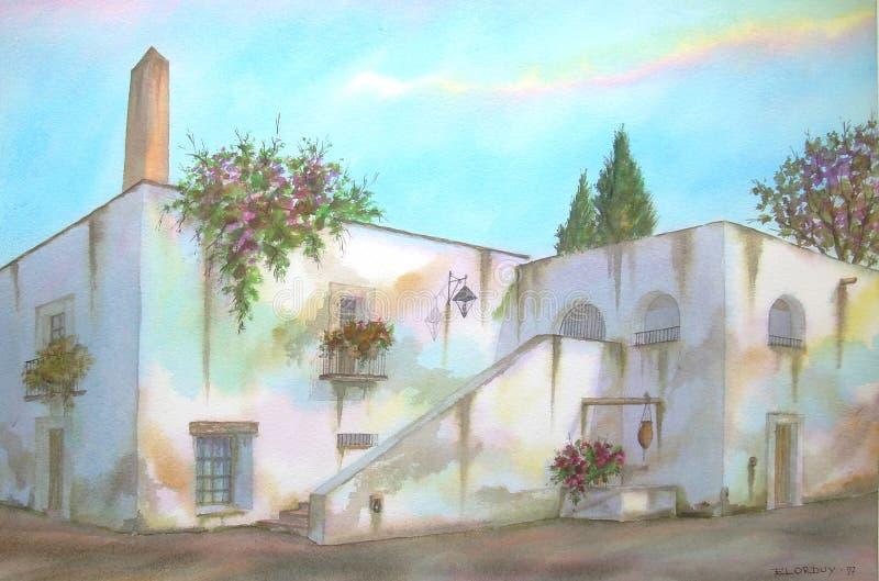 Mexicaanse Hacienda op Morelos royalty-vrije illustratie