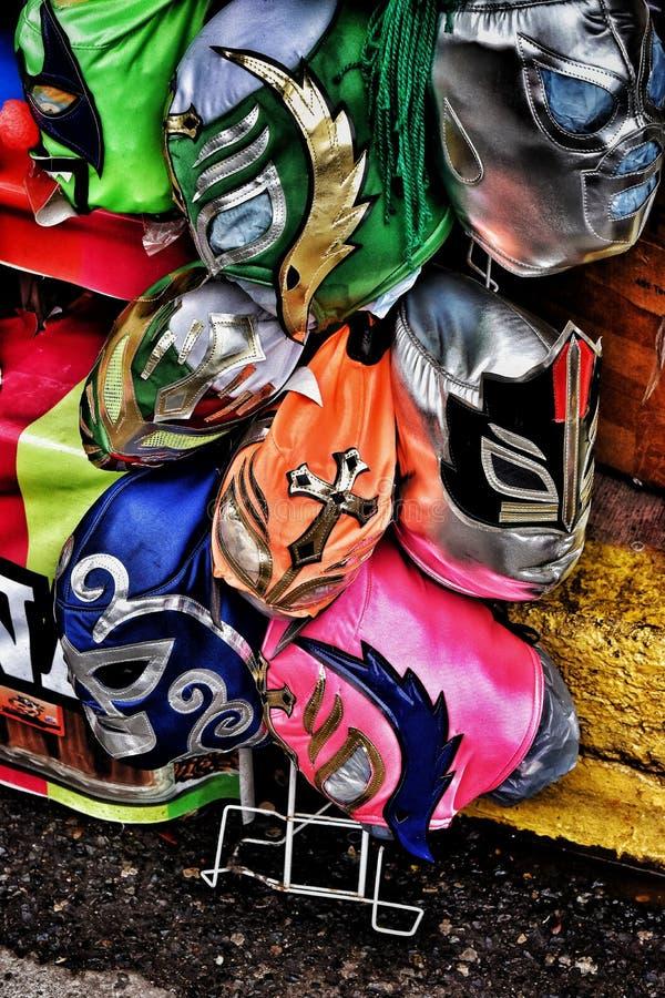 Mexicaanse het Worstelen Maskers royalty-vrije stock fotografie