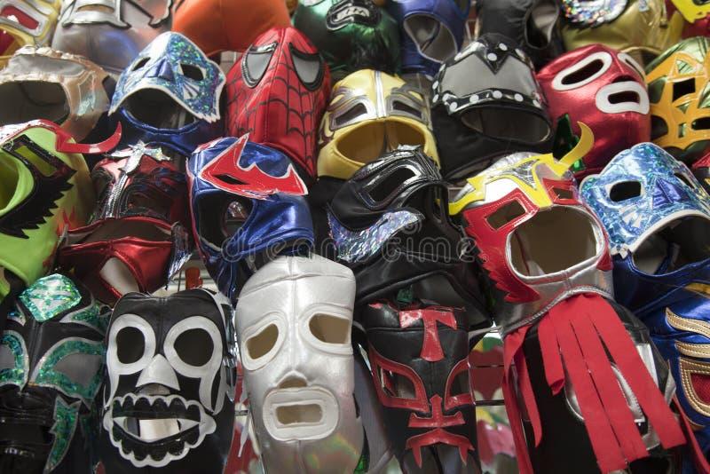 Mexicaanse het Worstelen Maskers stock foto