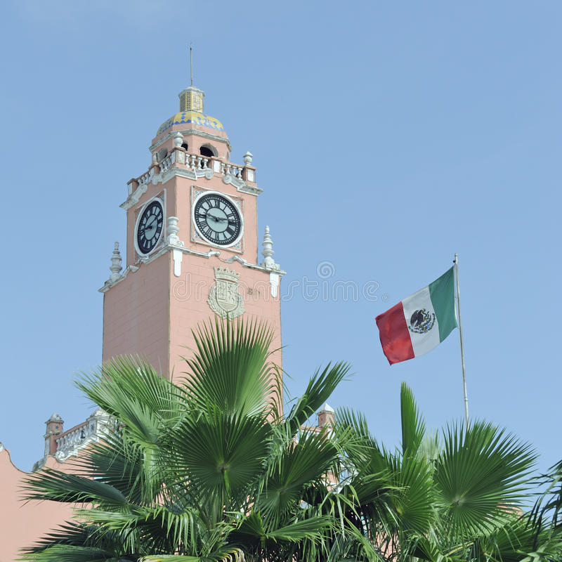Mexicaanse koloniale architectuur royalty-vrije stock foto