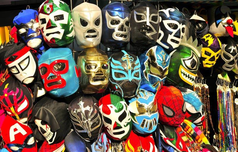 Mexicaanse Lucha Wrestling Masks royalty-vrije stock foto