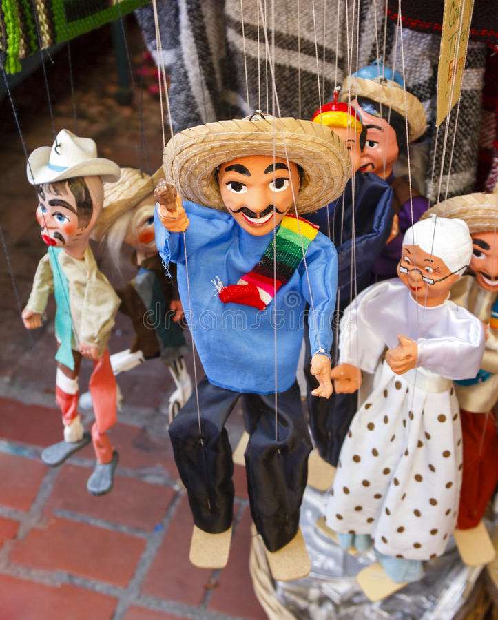 Mexicaanse Marionnettes stock foto's