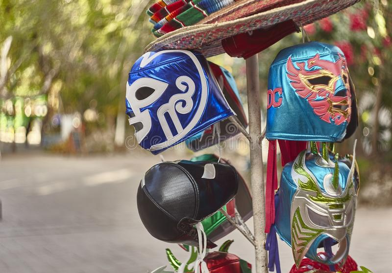 Mexicaanse Maskers royalty-vrije stock afbeelding