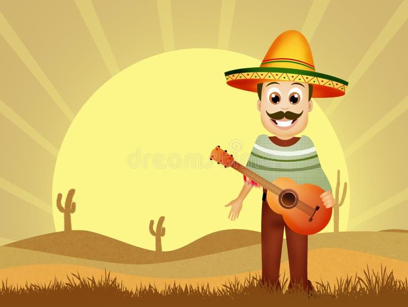 Download Mexicaanse mens stock illustratie. Illustratie bestaande uit band - 54083059