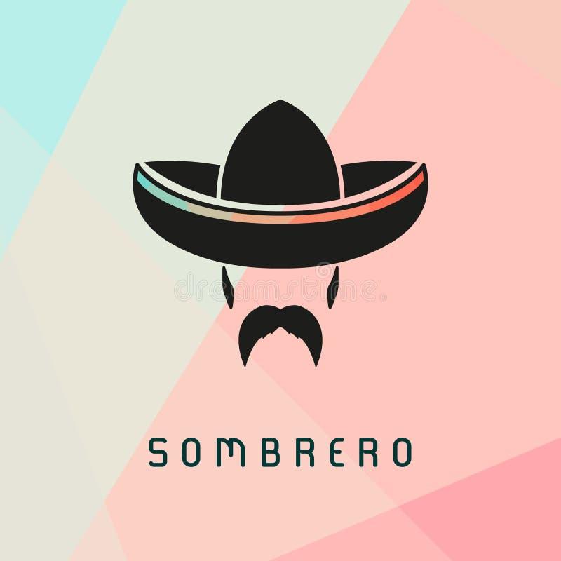 Mexicaanse mens die sombrero dragen vector illustratie