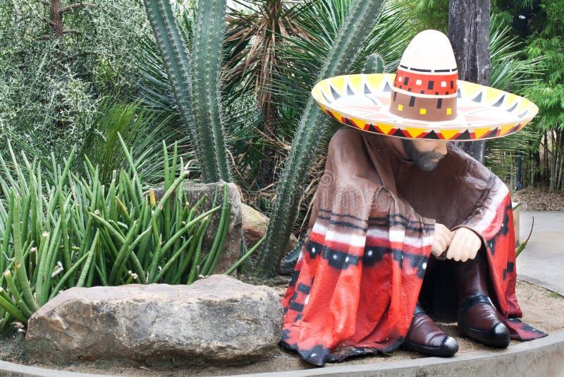 Mexicaanse Mens in het Park van de Cactus royalty-vrije stock afbeeldingen