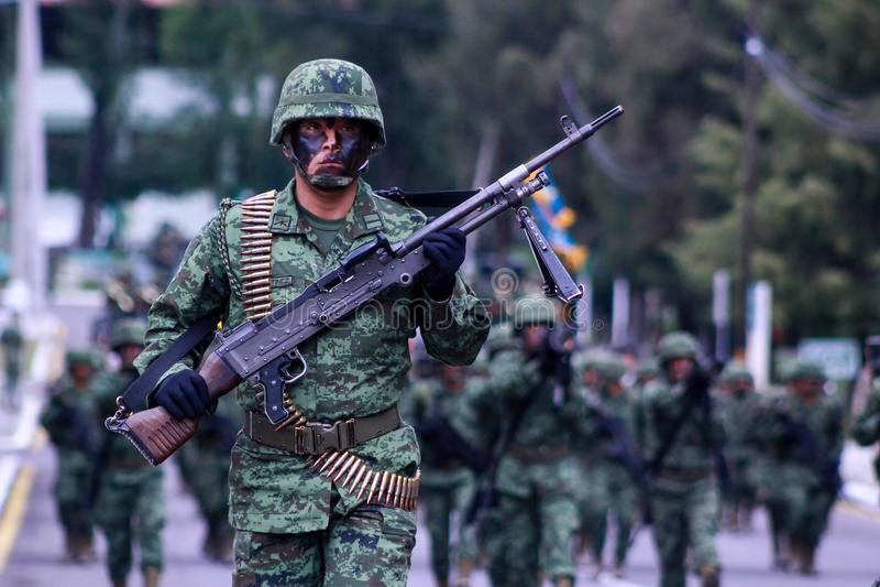 Mexicaanse militair royalty-vrije stock afbeeldingen
