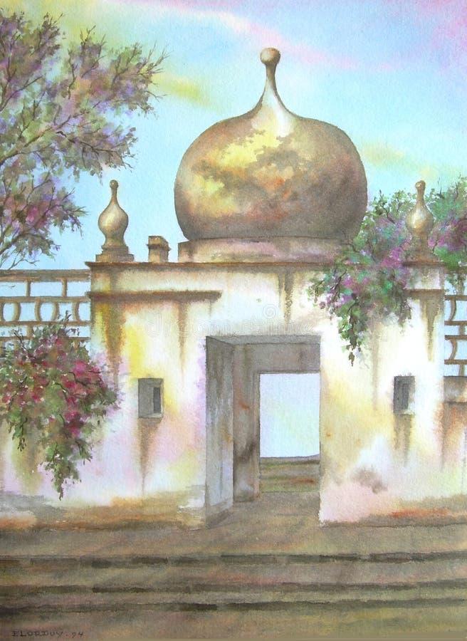 Mexicaanse Moorse Koepel Hacienda vector illustratie