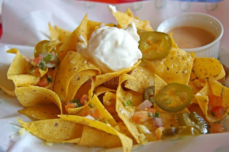 Mexicaanse nachos stock foto