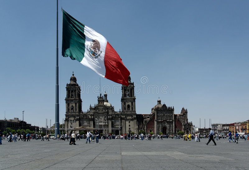 Mexicaanse Nationale Vlag royalty-vrije stock foto's