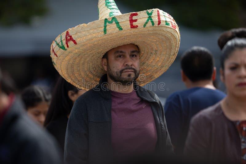 Mexicaanse Onafhankelijkheidsparade royalty-vrije stock afbeelding