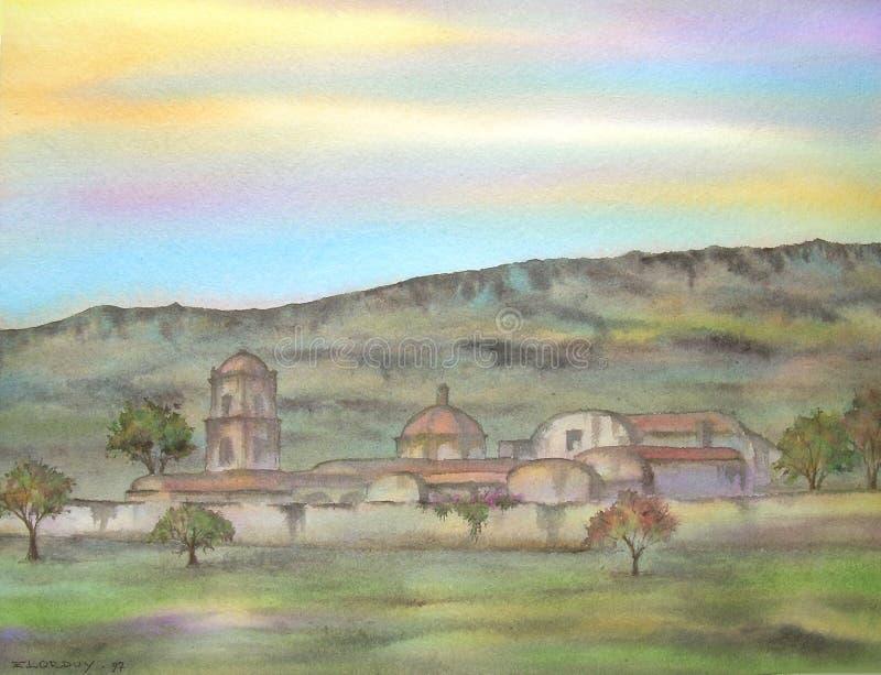 Mexicaanse Oude Hacienda vector illustratie