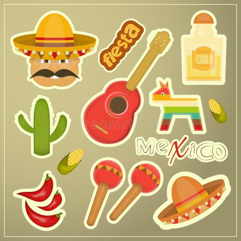 Mexicaanse Pictogrammen stock illustratie