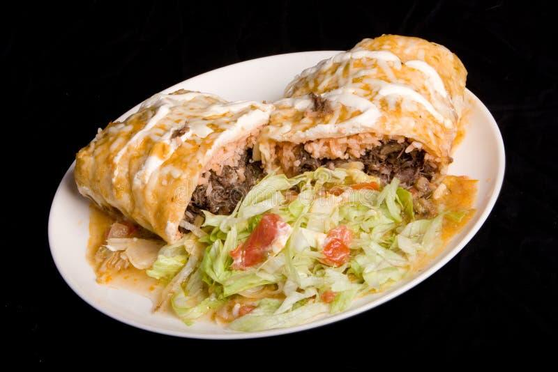 Mexicaanse plaat Burrito stock foto