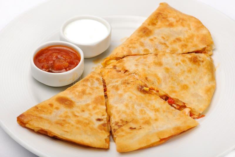 Mexicaanse quesadilla stock afbeeldingen