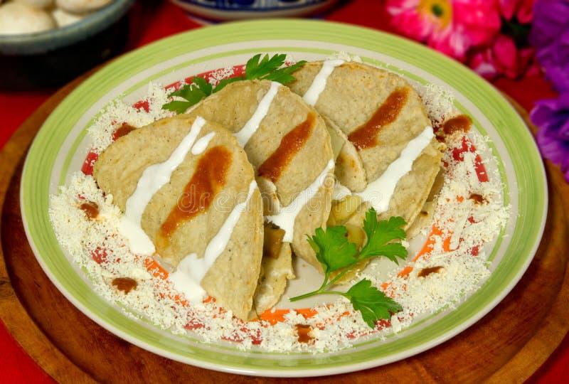 Mexicaanse Quesadillas stock afbeelding