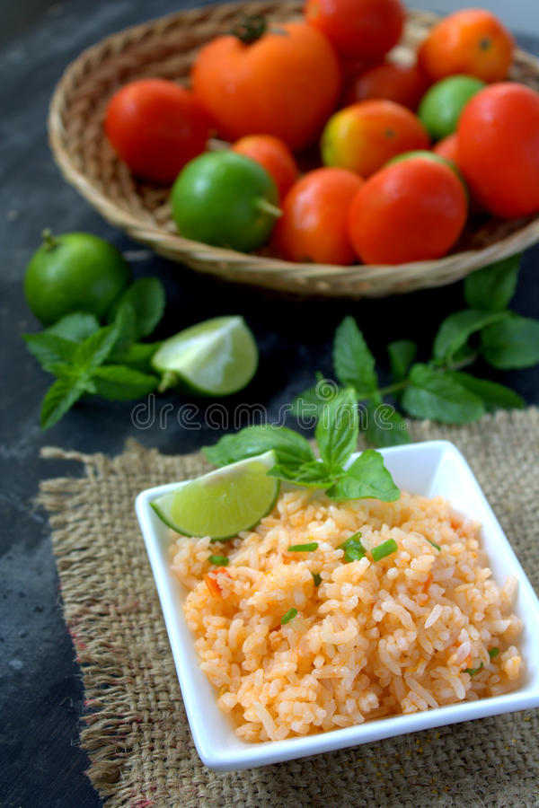 Mexicaanse rijst royalty-vrije stock afbeelding