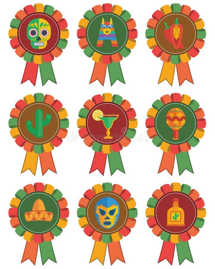Mexicaanse rozetten stock illustratie