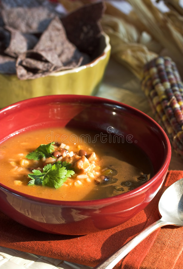 Mexicaanse soep royalty-vrije stock fotografie