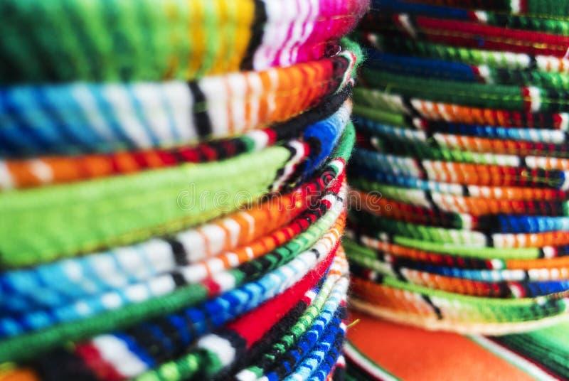 Mexicaanse sombrero's stock foto's