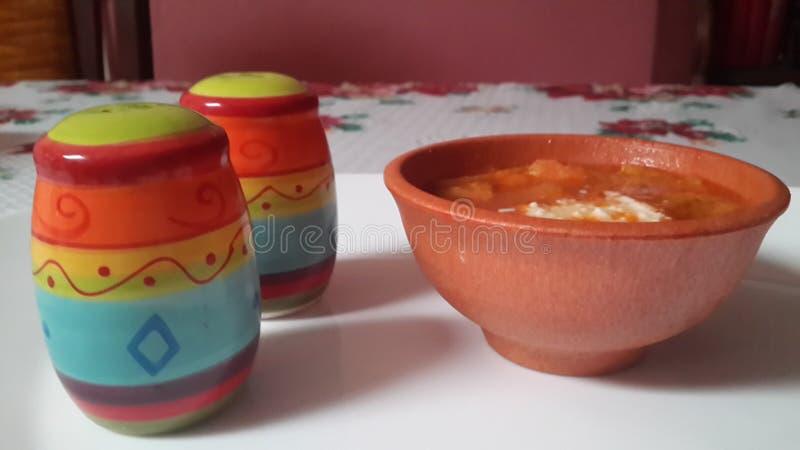 Mexicaanse Sopa Azteca stock foto