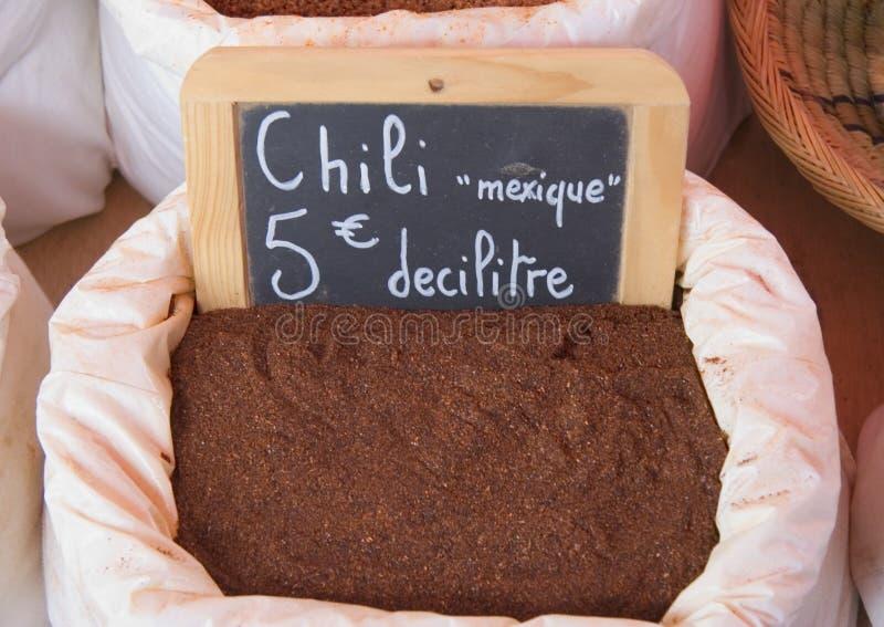 Mexicaanse Spaanse peper voor verkoop stock fotografie