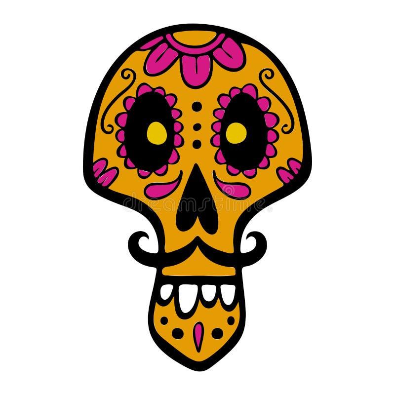 Mexicaanse suikerschedel royalty-vrije stock foto