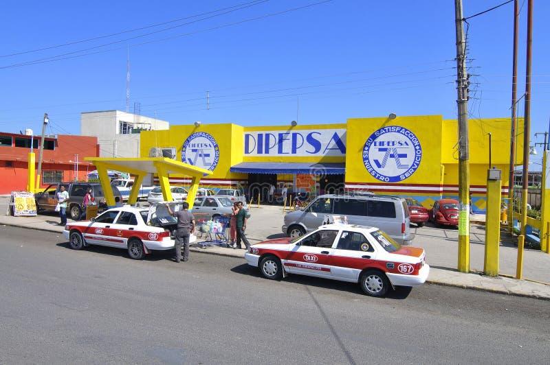 Mexicaanse supermarkt stock afbeeldingen