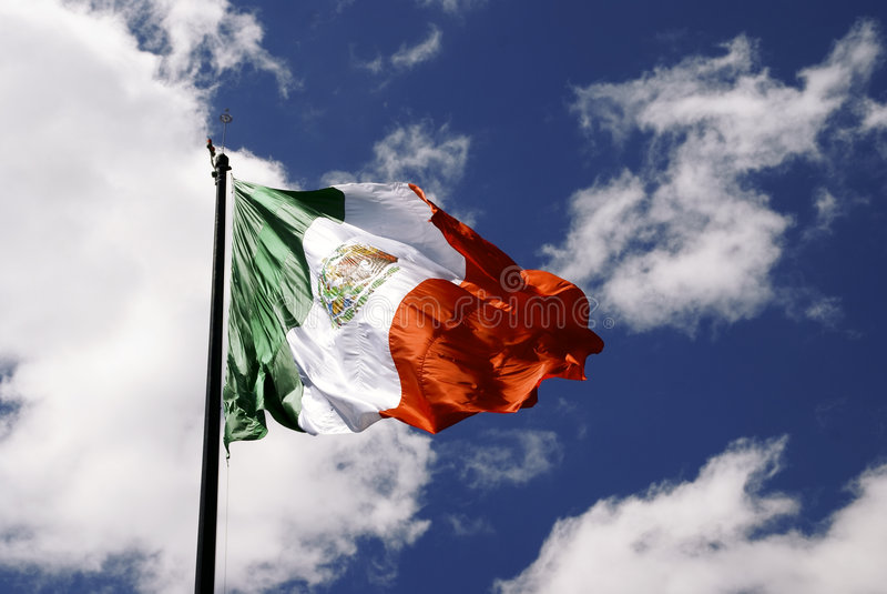 Mexicaanse Vlag stock foto