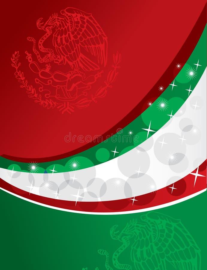 Mexicaanse vlagachtergrond vector illustratie